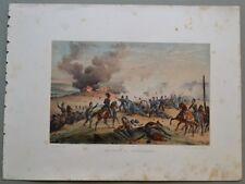 MARCHE - CASTELFIDARDO. Veduta della battaglia. Tratta da C. Bossoli, anno 1860.