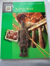 Harcourt Brace Social Studies Ancient Civilizations Activity Book Teacher's Ed.