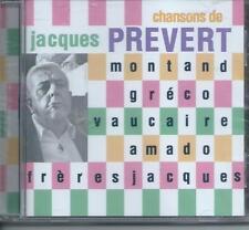 CD Chansons de Jacques Prévert NEUF Emballé