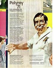 PUBLICITE ADVERTISING  017  1971   Polyrey revetement  mural  Aussedat Rey