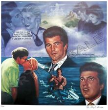 "JOHN F KENNEDY JR.  "" JOHN JOHN "" 23 x 25 LITHOGRAPH BY ROBERT STEPHEN SIMON"