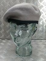 Genuine Hobson of London Military Issue Light Grey Lined Wool Uniform Beret