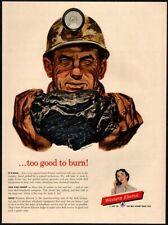 1954 Western Electric - Retro Coal Miner - Bell Telephone - Original Vintage Ad