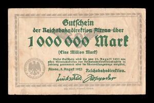 B-D-M Alemania Germany Notgeld Altona 1000000 Mark 1923 MBC VF