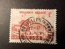 BELGIQUE 1938, timbre 485 EXPOSITION LIEGE, PAYSAGE oblitéré, VF STAMP LANDSCAPE