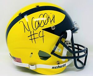Nico Collins Autographed Michigan Wolverines Schutt Rep Helmet JSA Authenticated