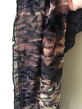 Marion Clayden Velvet & Silk Burnout Scarf Ombre