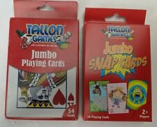 """2 x Jumbo Snap Cards Giant Large Educational Learning 5"""" Adult & Childrens"""