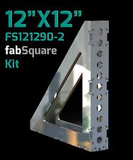 "CertiFlat FS121290-2 FabSquare 12""x12""x2"" - 90 Degree U-Weld Kit - Heavy-Duty"
