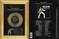 RARE / CD - ELVIS PRESLEY : LIVE AT MADISON SQUARE / EDITION LIMITEE OR GOLDEN