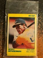 1990 Star Rickey Henderson A's COMPLETE SEALED 11 CARD SET MINT