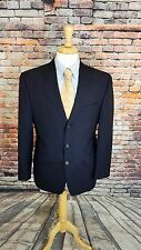 Ralph Lauren BLACK LABEL 39R 3 BTN Charcoal Grey WOOL Pinstripe SportCoat Jacket