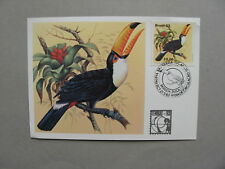 BRAZIL/BRASIL, maximumcard maxi card 1983, bird Toucan