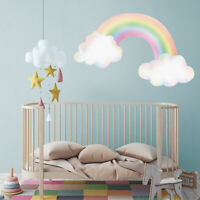Pastel rainbow with clouds wall sticker | Girls room décor | Wall decals
