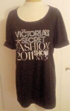 Victorias Secret Supermodel Essentials 2011 NYC Fashion Show Sz M Black Slub Top