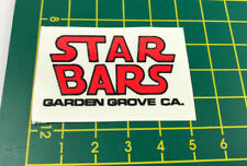 old school bmx decals stickers star bars handle bars red black on clear