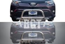 "BGT 2016-2017 TOYOTA RAV4 SE 2.5"" FRONT BULL BAR WITH PLATE BUMPER GUARD S/S"