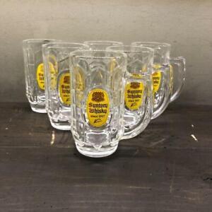 Suntory Highball Mug 375ml (13.2 OZ) ×6 Cups KAKU whiskey  Not for sale Japan