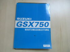 Suzuki GSX 750 Handbuch Wartungsanleitung Fahrerhandbuch 99500-37090-01G