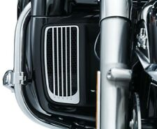 Kuryakyn 7681 Chrome Radiator Grills for 2014-2018 Harley Twin Cooled Touring