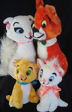 "Walt Disney Aristocats Toulouse Marie Duchess O'Malley Cat Plush 11"" 1960's"