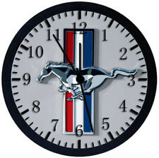 Mustang Black Frame Wall Clock Nice For Decor or Gifts W191