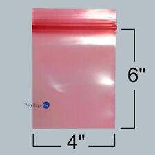 300 4x6 Pink Antistatic Zip Lock Reclosable Zipper Anti Static Bags