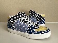 Auth Louis Vuitton Monogram Stars Acapulco Mid Mens Top Sneakers Shoes 8 1/2