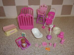 BARBIE SIZE BABY & NURSERY FURNITURE WITH ACCESSORIES