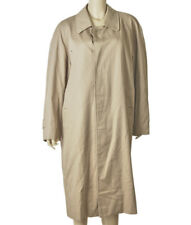 Burberry Tan Polyester & Cotton Trench Coat, Size 38