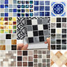 18pcs Mosaic Self-adhesive Bathroom Kitchen Wall Stair Floor Tile Sticker 10x10