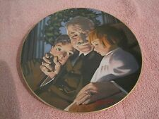 "Vintage Brittany Woods Fine China Norman Rockwell ""The Joy Of Christmas"" Plate"