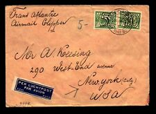 Netherlands 1941 Censor to USA / Airmail Label / 40+5c - L9713