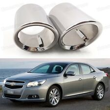 2 Car Exhaust Muffler Tip Tail Pipe Trim Silver for Chevy Malibu 2013-2015 #1050