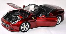 Ferrari California T décapotable Top 2008-15 rouge rouge métal 1:24 Bburago