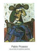 Femme Assise Dans Un Fauteuil by Pablo Picasso Art Print Poster 27.5x35.5