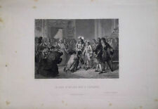 GRAVURE XIXè LE DUC D'ANJOU SACRE ROI D'ESPAGNE PHILIPPE V EN 1700 C1860