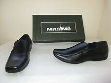 New! Men's Masimo New York Europa Dress Loafer Oxfords Shoes 370472 Black W37