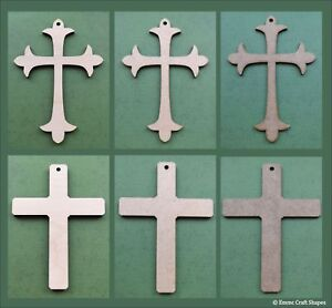 Wooden cross shape MDF or plywood craft cut-out blank crosses. Various sizes