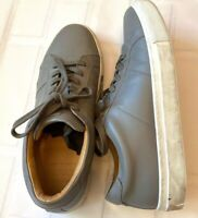 Greats Royale Men's Casual Shoes Sz 8 US 41 EUR Gray Leather Low Made In Italy