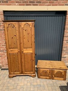 Ducal Victoria Pine Two-door Wardrobe And Top Box