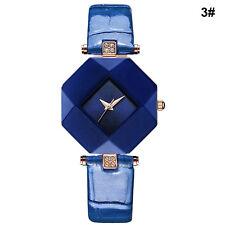 Armbanduhr Damenuhr Diamant Uhr Lederarmband Uhr Quarzuhr Elegant Analog