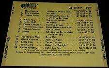 GOLDDISC Rare Radio Promo 660 CD Peter Wolf Robert Plant Palmer Little Feat