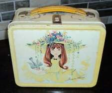 Vintage 1966 Aladdin Industries Junior Miss Metal Lunch Box Yellow