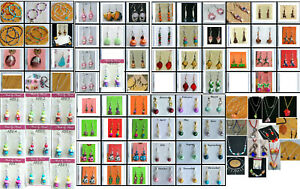 Lot 125 pc hand made earring necklace jewelry lot NEW resale Bracelet FREE SHIP