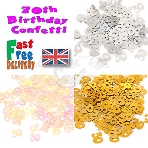 30th Age BIRTHDAY Confetti Scatter Table Party Celebration
