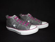 Converse One Star Youth Low 'No time to lace' Gray Purple Canvas Sneakers  US 2