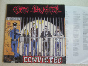CRYPTIC SLAUGHTER - Convicted LP Roadrunner Records 1986 Near Mint