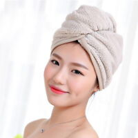 Super Absorbent Hair Drying Towel Turban Bathing Cap Bathrobe Hat Head Wrap LUN