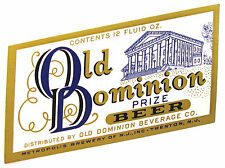 Metropolis Brewery OLD DOMINION PRIZE BEER label NJ 12oz
